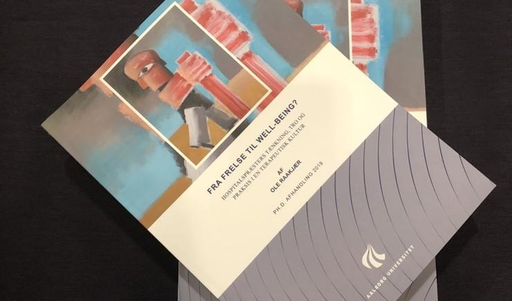 Forside af PHD-afhandling om hospitalpræster