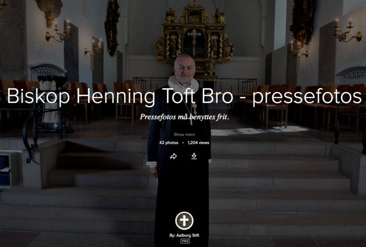 Billede af biskop og teksten: Biskop Henning Toft Bro - pressefotos