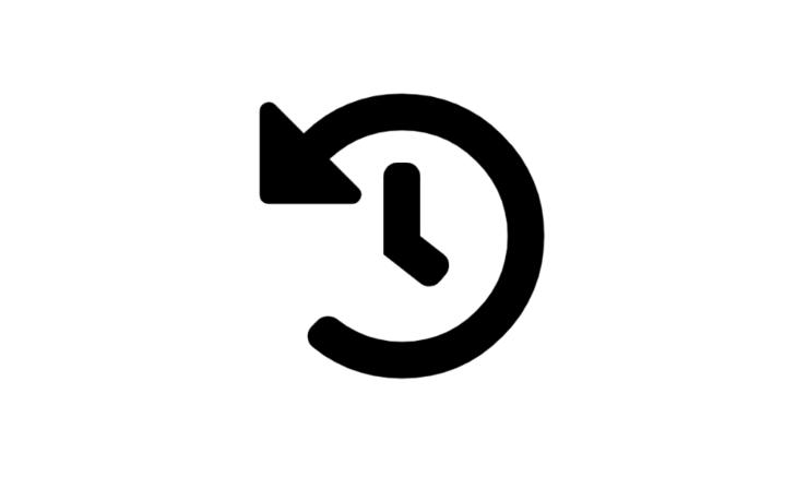 ikon ur med en pil