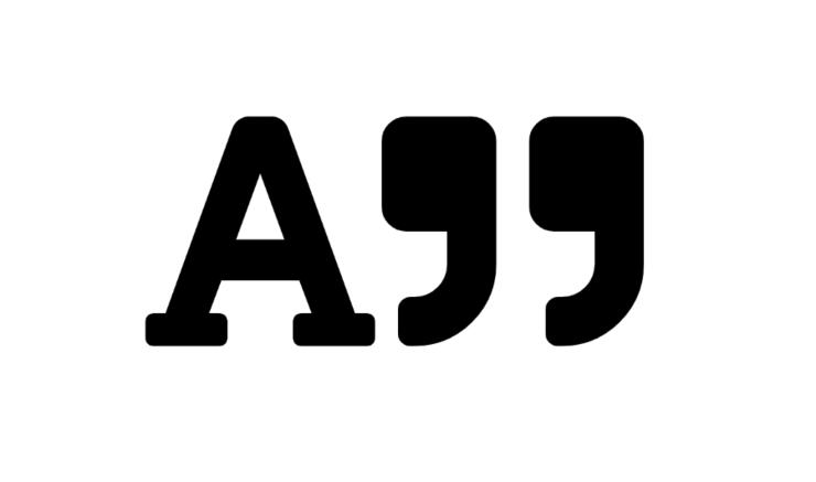 A og et citationstegn