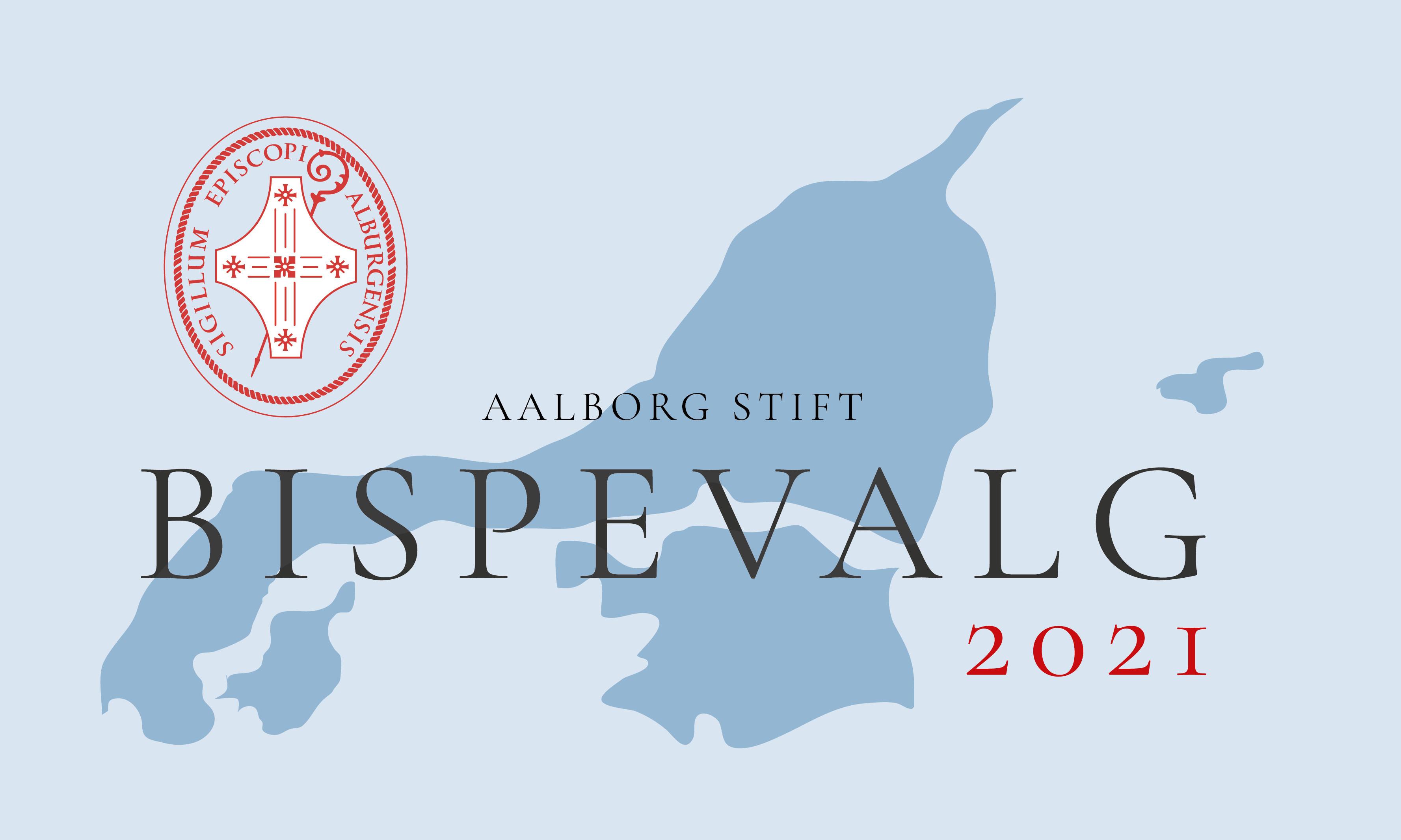 Kort over nordjylland og teksten: Bispevalg 2021, 50 % har stemt, har du?