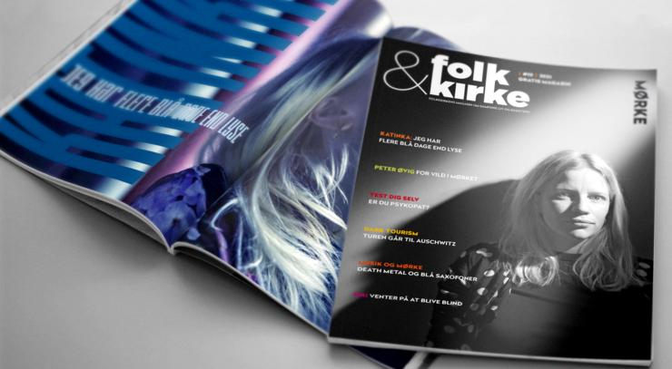 To magasiner ovenpå hinanden - linker til digital version af magasinet folk&kirke